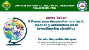 COLEGIO DE CONTADORES PBLICOS DE MADRE DE DIOS