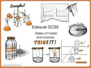 States of matter Describe three states of matter