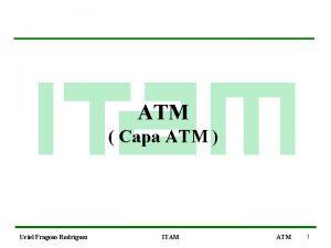 ATM Capa ATM Uciel Fragoso Rodrguez ITAM ATM