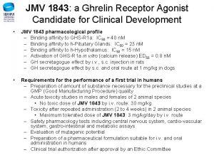 JMV 1843 a Ghrelin Receptor Agonist Candidate for