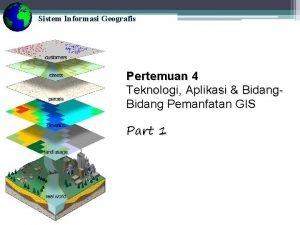 Sistem Informasi Geografis Pertemuan 4 Teknologi Aplikasi Bidang
