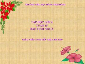TRNG TIU HC HNG THI NG TP C