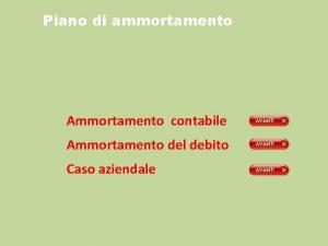 Piano di ammortamento Ammortamento contabile Ammortamento del debito