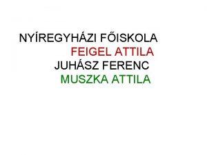 NYREGYHZI FISKOLA FEIGEL ATTILA JUHSZ FERENC MUSZKA ATTILA