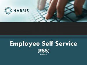 Employee Self Service ESS Version 2 22 Employee