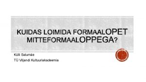 Klli Salume T Viljandi Kultuuriakadeemia EKSS 1 sisulise