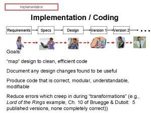 Implementation Coding Requirements Specs Design Version 1 Version