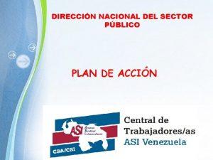 DIRECCIN NACIONAL DEL SECTOR PBLICO PLAN DE ACCIN