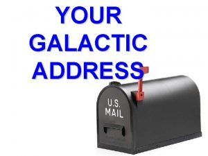 YOUR GALACTIC ADDRESS Galactic Address Map 1 Your