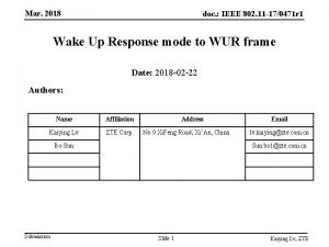Mar 2018 doc IEEE 802 11 170471 r