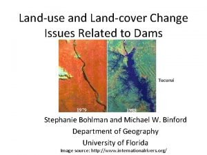 Landuse and Landcover Change Issues Related to Dams