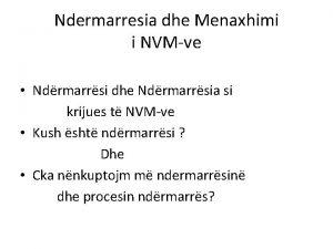 Ndermarresia dhe Menaxhimi i NVMve Ndrmarrsi dhe Ndrmarrsia