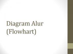 Diagram Alur Flowhart Definisi Diagram alur merupakan gambar