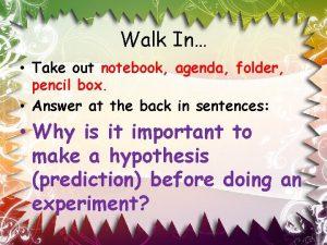 Walk In Take out notebook agenda folder pencil