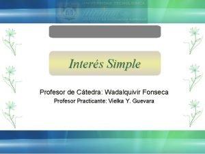 Inters Simple Profesor de Ctedra Wadalquivir Fonseca Profesor