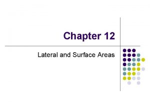 Chapter 12 Lateral and Surface Areas 12 2