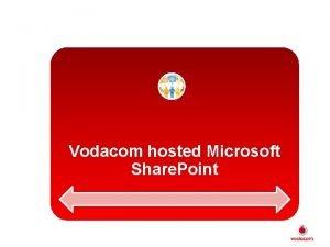 Vodacom hosted Microsoft Share Point Microsoft Hosted Share