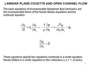 LAMINAR PLANE COUETTE AND OPEN CHANNEL FLOW The