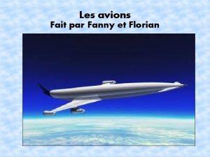 Les avions Fait par Fanny et Florian Plan