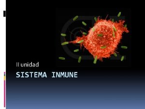 II unidad SISTEMA INMUNE Sistema Inmune El sistema