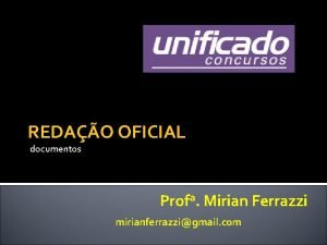REDAO OFICIAL documentos Profa Mirian Ferrazzi mirianferrazzigmail com