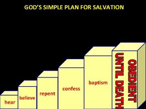 GODS SIMPLE PLAN FOR SALVATION hear believe repent