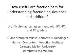 How useful are fraction bars for understanding fraction