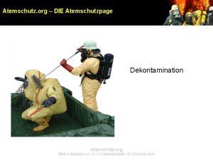 Atemschutz org DIE Atemschutzpage Dekontamination Atemschutz org Walter