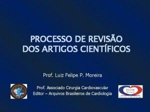PROCESSO DE REVISO DOS ARTIGOS CIENTFICOS Prof Luiz
