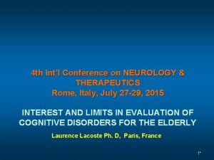 4 th Intl Conference on NEUROLOGY THERAPEUTICS Rome