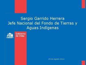 Sergio Garrido Herrera Jefe Nacional del Fondo de