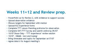 Weeks 1112 and Review prep Power Point as