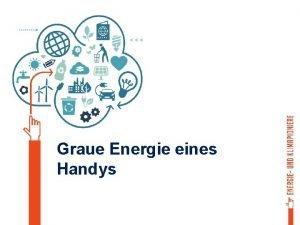 Graue Energie eines Handys Herstellung Rohstoffgewinnung Transport Entsorgung