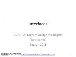 Interfaces CS 5010 Program Design Paradigms Bootcamp Lesson