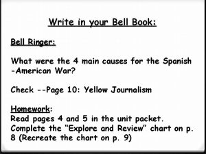 Write in your Bell Book Bell Ringer What
