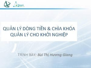 QUN L DNG TIN CHA KHA QUN L