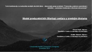 Trea konferencija za nastavnike srednjih strunih kola ekonomske