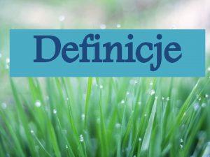 Definicje Podzia definicji ze wzgldu na funkcj Realne