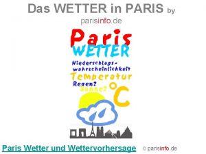 Das WETTER in PARIS by parisinfo de Paris