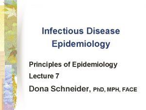 Infectious Disease Epidemiology Principles of Epidemiology Lecture 7