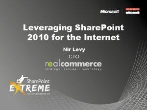 Leveraging Share Point 2010 for the Internet Nir