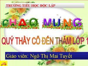 TRNG TIU HC C LP Gio vin Ng