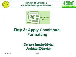 Ministry of Education Capacity Development Center Day 3