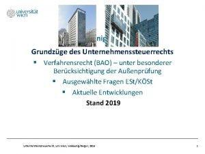WakounigBerger Grundzge des Unternehmenssteuerrechts Verfahrensrecht BAO unter besonderer