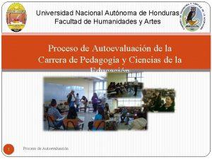 Universidad Nacional Autnoma de Honduras Facultad de Humanidades