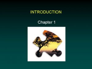 INTRODUCTION Chapter 1 Preface J R Platt 1964