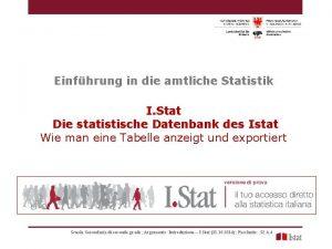 Einfhrung in die amtliche Statistik I Stat Die