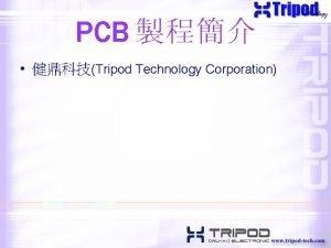 PCB Tripod Technology Corporation Resin Phenolic Resin Epoxy