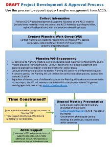 DRAFT Project Development Approval Process Use this process