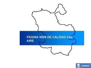 PGINA WEB DE CALIDAD DEL AIRE PAGINA WEB